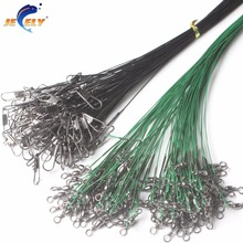 FREE SHIPPING 100pcs/bag 30cm Stainless Steel Trace Wire Rig Terminal Tackle For Leader(China)