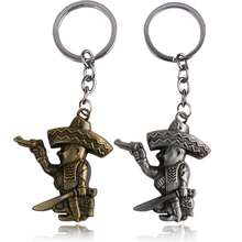 5 pc/lot Newest Cowboy Pirate Pendant Keychains Pirates of the Caribbean series 2 Colour Factory Direct Sale