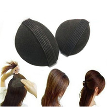 New Women 2PCS Black DIY Hair Disk Hair Flaxen Hair Fluffy Hair Pad Increased Device Hair Accessories Tool se8