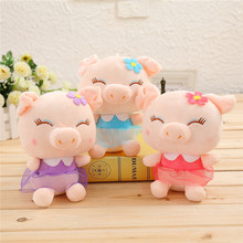 25CM Cute Cartoon Pig Dolls Peluche Toys Stuffed Animal Pig Plush Toy Brinquedos Kids Toys Kawaii Pigs Kids Christmas Gift