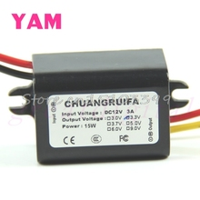 New 1PC DC DC Converter 12V Step down to 3.3V Power Supply Module Black Drop shipping #G205M# Best Quality
