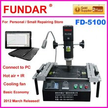 EMS Free shipping for russia ukraine market 2012 New Fundar FD-5100 Hot air BGA rework station with free 6 in 1bga reballing kit