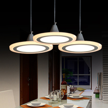 Pendant lamp led modern brief fashion acrylic restaurant lamp personality circle dining table lamps