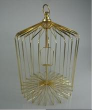 Free shipping,Appearing Bird Cage Gold - 14 inch Steel-Magic Trick,stage/closeup,fire,comedy,Accessories