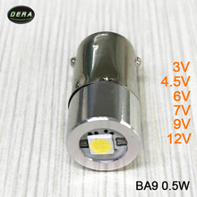 BA9 0.5w 3v 4.5v 6v 7v 9v 12v LED Flashlight For Interior Bike Torch Spot Lamp Bulb High Brightness Head lamp bulb cold BA9S