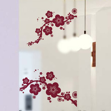 The plum blossom PVC environmental protection decorates a wall post
