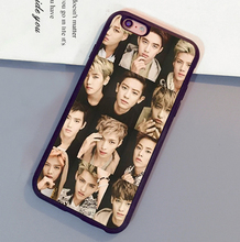 Popular Exo Kpop band  Printed Mobile Phone Cases OEM For iPhone 6 6S Plus 7 7 Plus 5 5S 5C SE 4S Soft Rubber Back Cover Shell