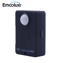 Portable Mini GSM PIR Alarm Motion Dection Wireless PIR Alert Infrared GSM Alarm A9 Security Monitor Alert, Free Shipping(China)