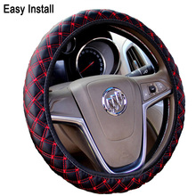 DIY Plush Car Steering Wheel Cover black gray beige brown yellow, steering wheel hubs, fur wheel cover Free shipping(China)