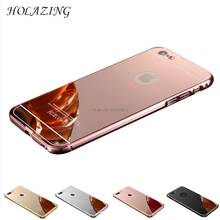 HOLAZING 2 in 1 Detachable Metal Aluminum Bumper Frame Case For iPhone SE/5S With Mirror Back Hard Cover for iPhone 5(China)