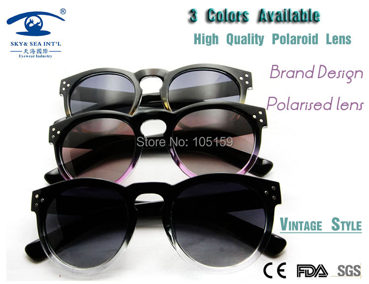 2015 Vintage Round Sunglasses Polaroid 1.1 Oculos Retro Eyewear Polaroid Lens Polarized Sunglasses Women oculos masculino<br><br>Aliexpress