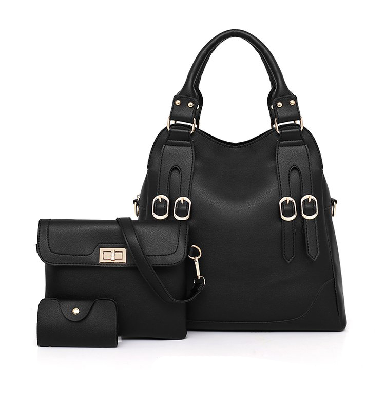 Women Bag PU Leather Female 3 Sets Handbags Women Ladies Shoulder Bags Composite Casual Tote Solid Bag for Women DropShipping 39
