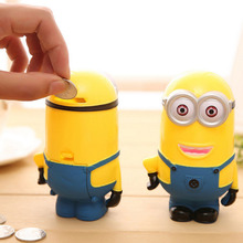 New Arrival Money Box Super Cute Cartoon Minions Coin Piggy Bank Money Saving Box Toys Gifts For Kids Birthday Christmas Gifts(China)
