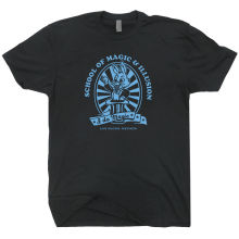 Las Vegas Magic School T SHIRT Magician Potter Wand Hat of the Harry Houdini T-Shirt New Arrivals  Gildan