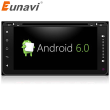 Eunavi 2 din Android 6.0 car dvd player radio gps for Toyota Hilux VIOS Old Camry Prado RAV4 Prado 2003 2004 2005 2006 Quad Core