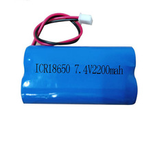 7.4v 18650 2200MAH Li-ion lithium rechargeable battery pack protected for loudspeaker audio power amplifier fever heated clothes
