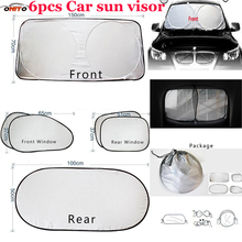HOT Sale 6pcs/set Car sun visor sunscreen insulation curtain block light Front/Rear shade anti UV windshield window for all car