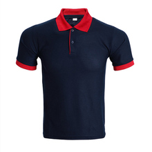 New Navy Blue Polo Shirt Men Polo Homme Mens Fashion Solid Color Short Sleeve Polos 2016 Summer Style Slim Fit Polo Shirts Xxxl