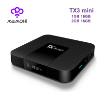 MEMOBOX TX3 mini Android 7.1 Media Player 2GB16GB 1GB16GB Amlogic S905W Quad Core 4K 30tps WiFi 2.4GHz IPTV Smart TV Box(China)
