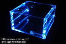 LED version- QYFREEZE transparent PMMA tank double optical drive position computer water cooling tank with LED. GQSX-Y3