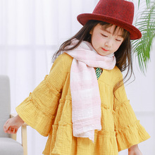 2017 New Winter cute mixed color scarf for children girl scarf neck warm cotton Kids Neckerchief Shawl scarves size 135*35cm(China)