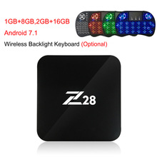 Android 7.1 TV Box Z28 Rockchip RK3328 64-bit Cortex A53 1GB/8GB 2GB/16GB 4K HD USB 3.0 WiFi Smart OTT Box Media Player PK X96