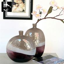 Europe Home Furnishing purple glass vase ornaments handmade glass art glass soft decoration package damage
