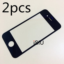 2pcs Wholesale Touch For iPhone 4S Touch Screen IP4S Mobile Phone Touch Panel Glass NO DIGITIZER SENSOR LCD DISPLAY Black White