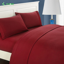 American Style Red Bedding Set Twin Full Queen King Size Sheet+Duvet Cover+Pillowcase 3/4pcs Sanding bedlinen sets