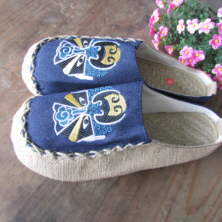 The linen slippers folk style Toe shoes Thailand thick lovers Womens Shoes Fashion linen Chinese style Summer Sandals Flats<br><br>Aliexpress