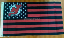 NHL New Jersey Devils Stripe and stars Flag 3x5 FT 150X90CM Banner 100D Polyester flag brass grommets6038, free shipping
