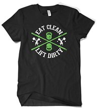 Cybertela Men's Eat Clean Lift Dirty, Workout Gymer T-shirt Streetwear Funny Print Clothing Hip-Tope Mans T Shirt Tops Tees(China)