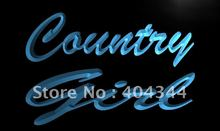 LB466- Country Girl Display LED Neon Light Sign home decor shop crafts(China)