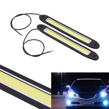 2pcs Super white LED Daytime Running Light Waterproof COB Day Time Lights Flexible LED Car DRL Driving Lamp for FORD(China)