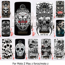 Phone Case For Motorola Moto Z Force Play X4 Edition Verizon Vector maxx Droid 2016 XT1635 XT1650 XT1650-05 Skeleton Cover Skin