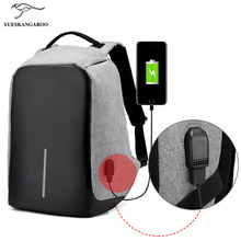 Men Bobby Antitheft Backpack Male Laptop Schoolbag Backpack For Teenagers Girls External USB Charging Backpack Women Travel Bags(China)