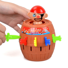 Hot 1 Set Pirate Fun Toys Barrel Crisis Novel Whimsy Classic Family Funny Lucky Baby Kids Toys Party Interactive Game Gifts(China)