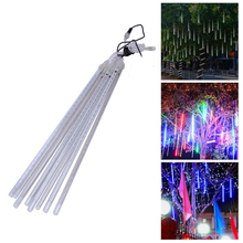 50CM Led Christmas Garland Meteor Shower Rain Tube New Year's Lights Xmas String Lights Wedding Party Decor EU US(China)