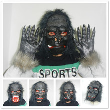 Halloween Gorilla Monkey Masks Horror Scary Party Mask Cosplay Disfraces Carnaval Latex Mask  H-025