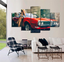 New Arrival Framed 5 Pieces Fashion Car Canvas Painting Pictures By Numbers Wall Art Home Decoration For Living Room Or Bedroom