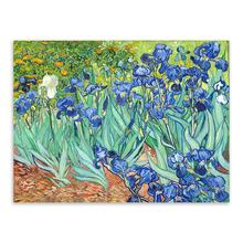 Irises Impressionism Artist Vincent Van Gogh Flower A4 Big Art Print Poster Wall Picture Canvas Oil Painting No Frame Home Decor