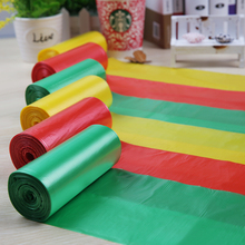1 Box= 6 Rolls 45x50cm 0.03mm Colorful Printing HDPE Garbage Bags in Roll / Box Packing Rubbish Bag / Plastic Refuse Storage Bag