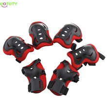 Kids Safe Cycling Roller Skating Knee Elbow Wrist Guard Protective Pad(China)