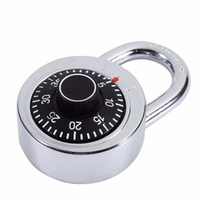 1 pc Rotary Padlock Digit Combination Code Lock Safe Round Dial Number Luggage Suitcase Security Bicycle Suitcase Drawer Cabinet