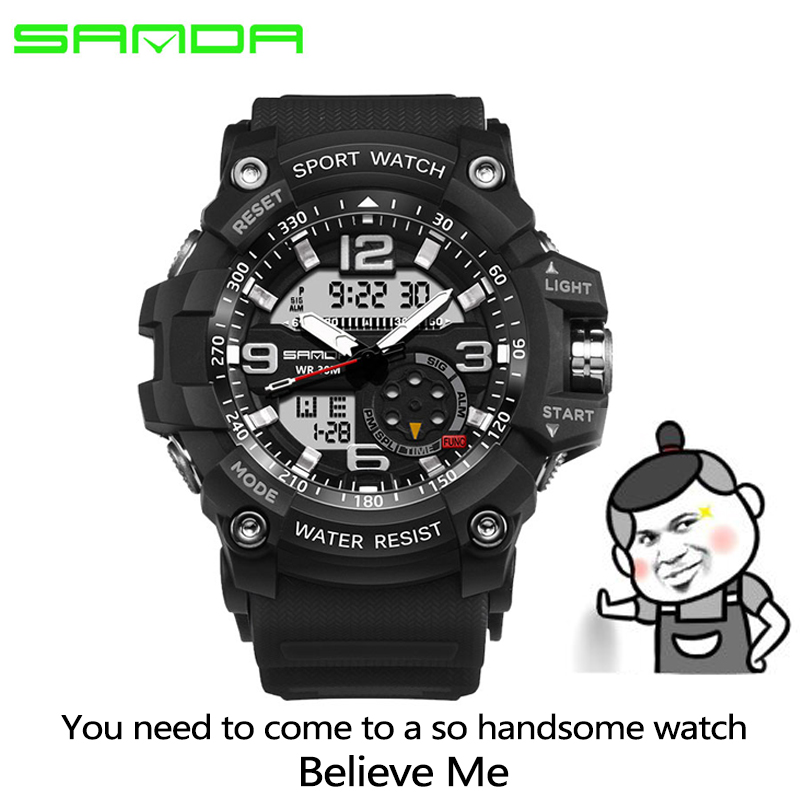 HTB11C7FSpXXXXbaaXXXq6xXFXXXl - 2017 SANDA Dual Display Watch Men G Style Waterproof LED Sports Military Watches Shock Men's Analog Quartz Digital Wristwatches