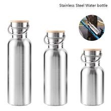 Buy 350ml/500m/750ml Stainless Steel Bicycle Water Bottle Sports Coffee Cap Large Vacuum Drinking Water Bottles Outdoor Cycling Mug for $8.25 in AliExpress store