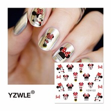 Cartoon Watermark Stickers Nail Art Water Transfer Tips Decals Beauty Temporary Tattoos Tools(China)