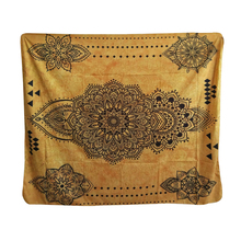 Papa&Mima Indian Traditional Yellow Tapestries Decorative Wall Hanging Polyester Fabric(China)