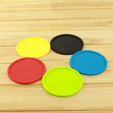5 pcs 5 colors  Silicone Cup Mat Heatinsulation Placemat Colorful Drink Holder Place Mat Pads Coffee Pad Coaster Cup