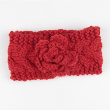 Girl Wool Knitted New Headband Hair Headwrap Accessorie Winter Kids Newborn Hair Head Flower Warm Headband Headwear(China)